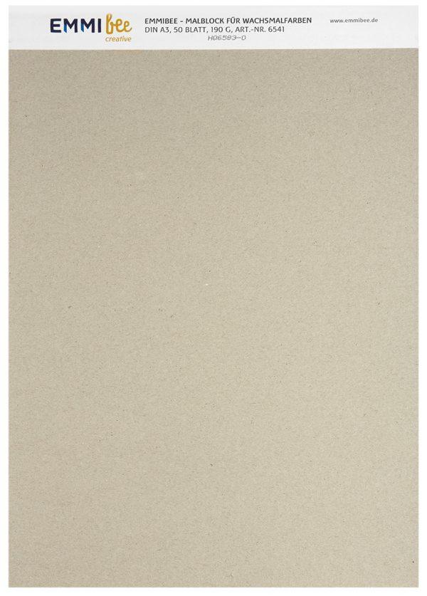 Malblock DIN A3 für Wachsmalfarben von EmmiBee - Ansicht hinten