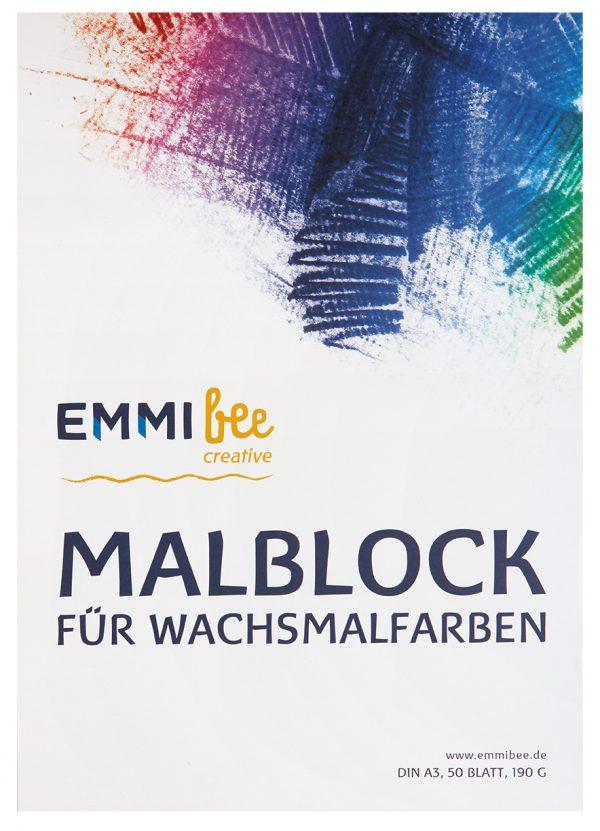 Malblock DIN A3 für Wachsmalfarben von EmmiBee - Ansicht vorn