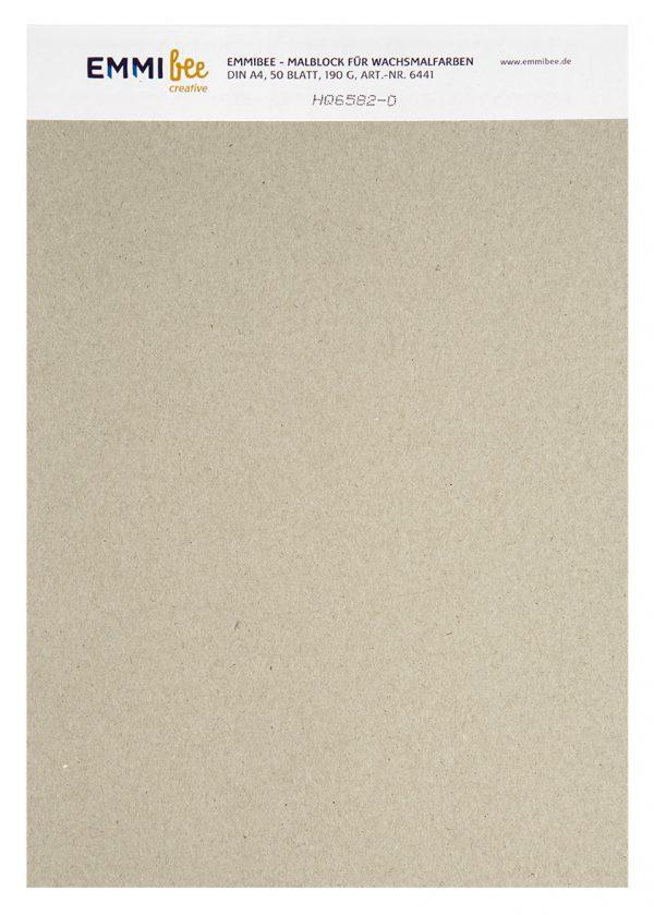 Malblock DIN A4 für Wachsmalfarben von EmmiBee - Ansicht hinten