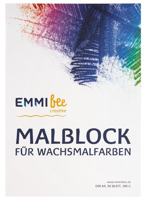 Malblock DIN A4 für Wachsmalfarben von EmmiBee - Ansicht vorn