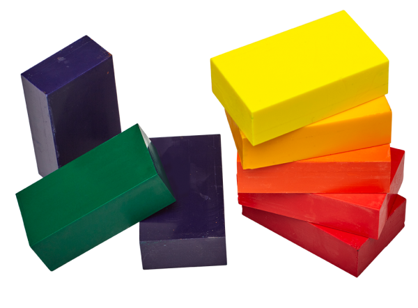 Wachsmalblöcken verschiedene Farben, nachhaltig, ohne Palmölwachs, ohne Erdölwachs
